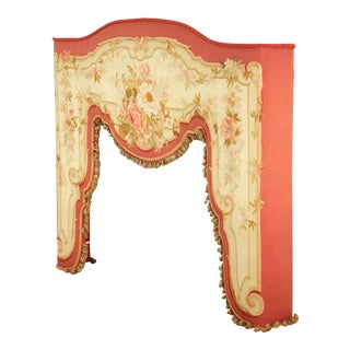 French Aubusson Tapestry Window Surround Valance For Sale