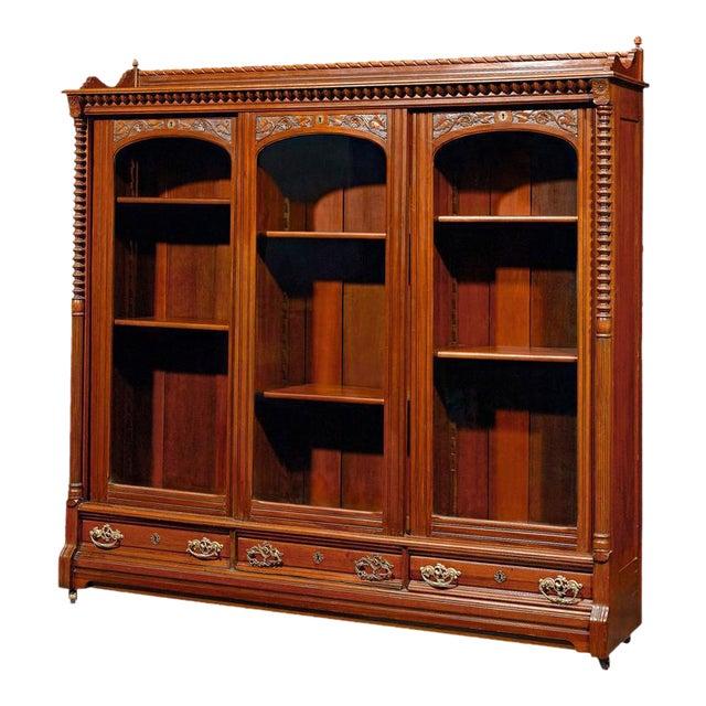 English Mahogany Bookcase For Sale