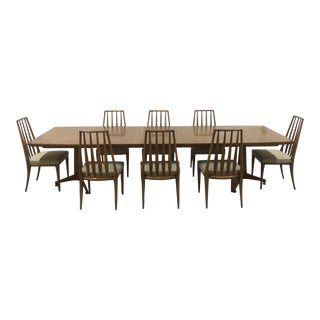 John Widdicomb Mid-Century Dining Table & Chairs - Set of 9