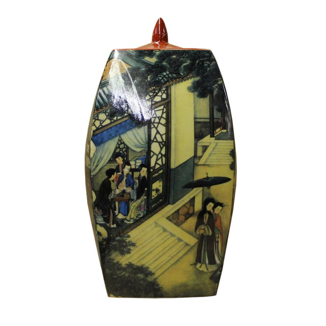 Chinese Court House Ladies Porcelain Ginger Jar For Sale