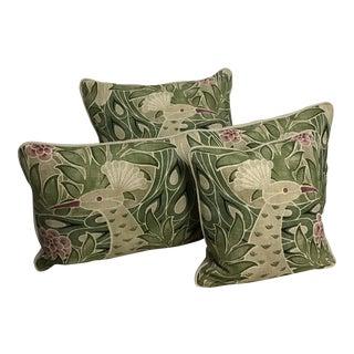 Boho Chic Thibaut Desmond Print Pillows - Set of 3 For Sale