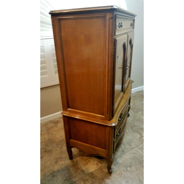 1970s Louis XV Style Highboy by Century Furniture For Sale - Image 5 of 8