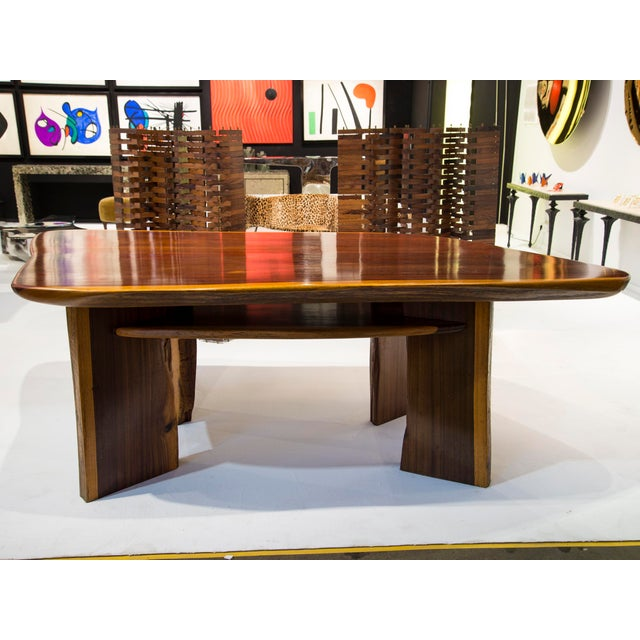 1980s Rare Brazilian Table in Jacaranda From 1980's For Sale - Image 5 of 5