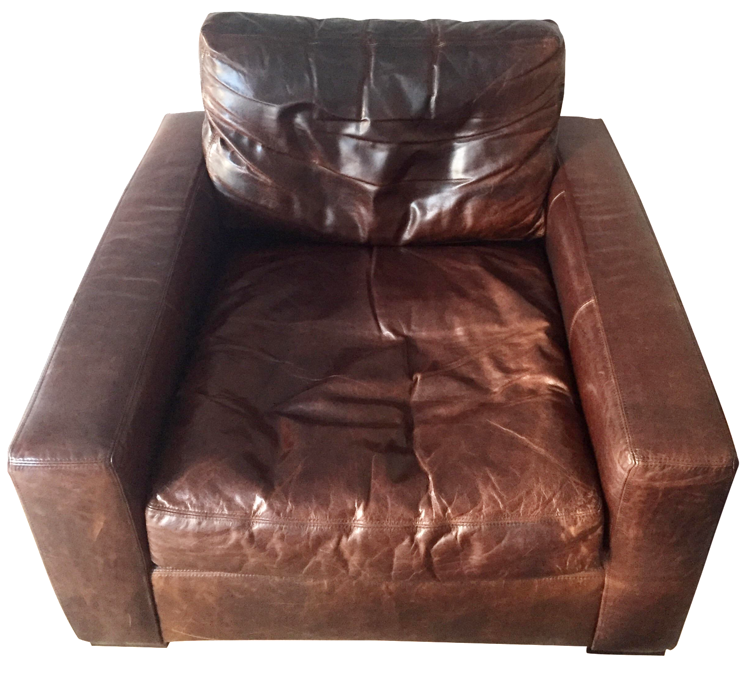 Attractive Restoration Hardware Leather Maxwell Chair
