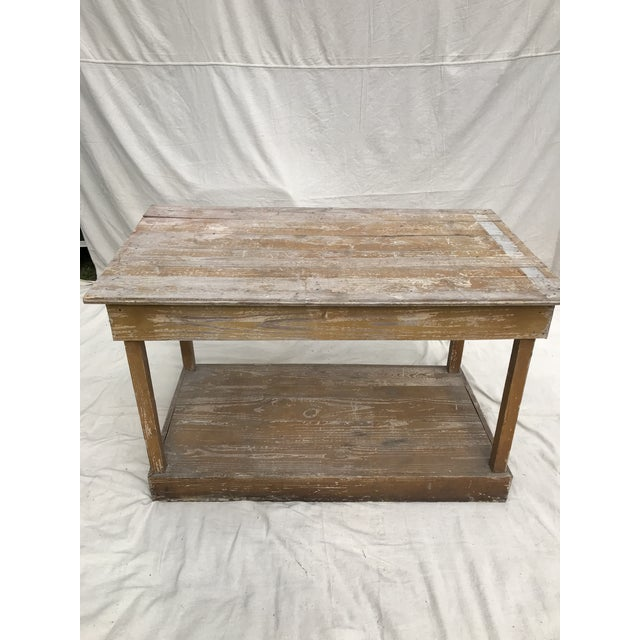 Wood Antique Southern Primitive Work Tables - a Pair For Sale - Image 7 of 13