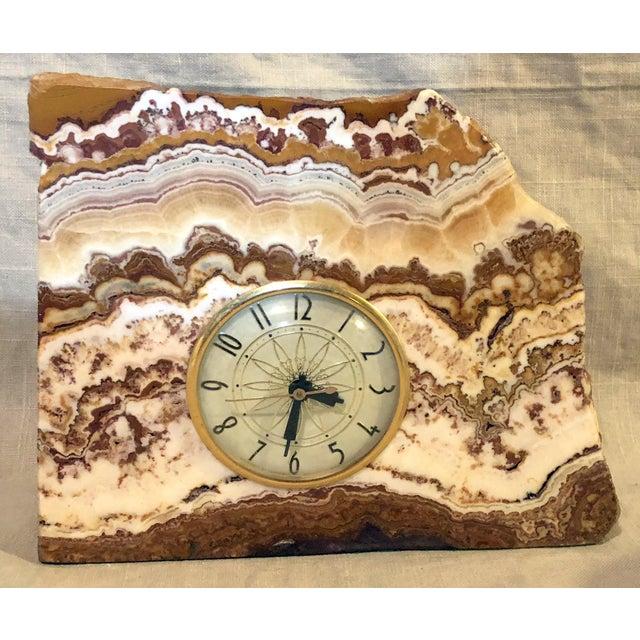 Lanshire Vintage Marble Slab Clock For Sale - Image 10 of 10