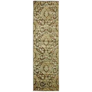 """Arts & Crafts Hand Knotted Runner - 2'6"""" X 9'10"""" For Sale"""