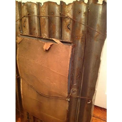 Tom Greene Vintage Brutalist Metal Wall Mirror - Image 9 of 9