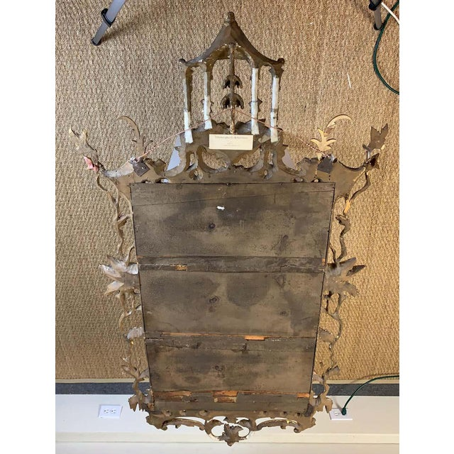 George II Chinese Chippendale Wall Mirror For Sale - Image 9 of 13