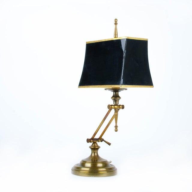 Ethan Allen Articulating Brass Lamp - Image 2 of 11