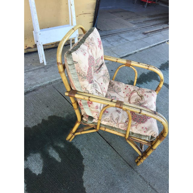 Vintage Bamboo Arm Chair For Sale - Image 5 of 7