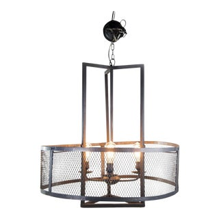 Steel Mesh Pacific Three-Light Chandelier
