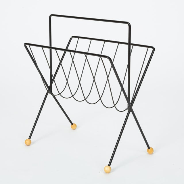 Wire Magazine Rack by Tony Paul For Sale - Image 10 of 10