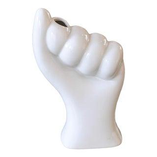 White Ceramic Hand Flower Holder For Sale