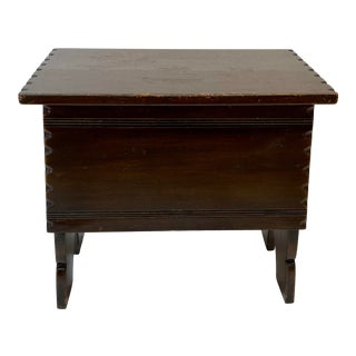 19th Century Oak Lift Top Storage Stool For Sale