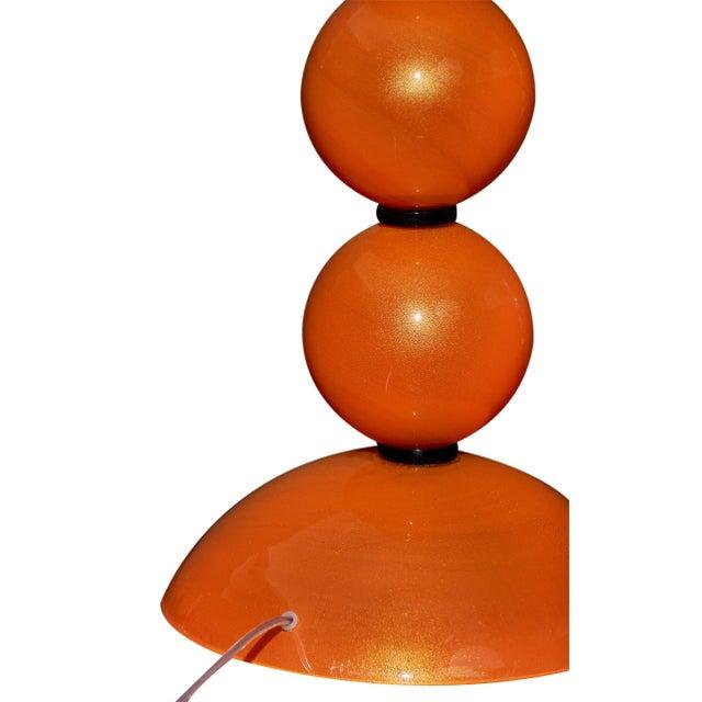 Orange Murano Glass Lamps For Sale - Image 9 of 10