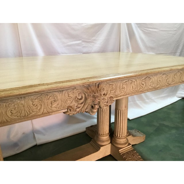 19th C. Carved Bacchus Mahogany Table For Sale - Image 12 of 13