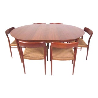 N.O. Møller Teak Dining Set For Sale