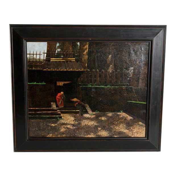 Late 19th Century Francis Neydhart Oil on Canvas For Sale