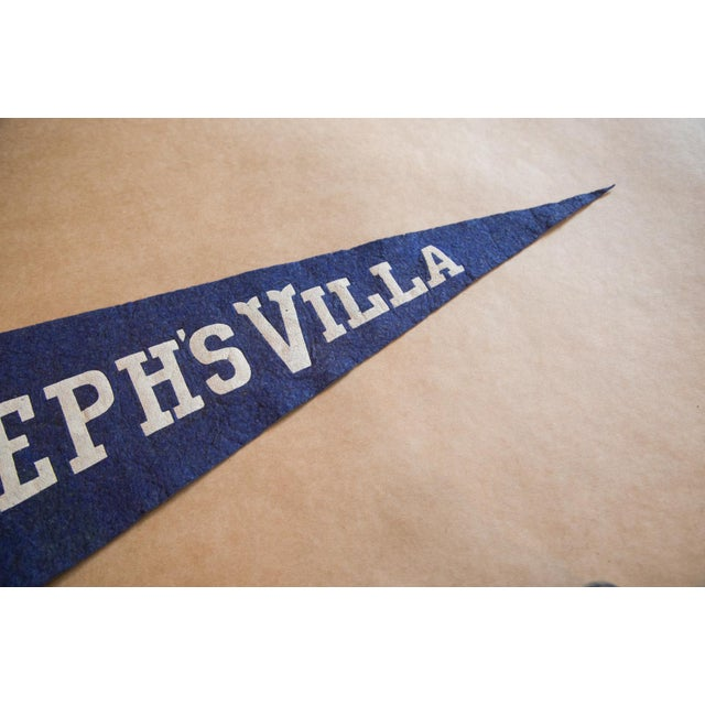 :: 1940s St. Joseph's Villa felt flag banner, possibly from Richmond Virginia. Great coloration and font. This felt flag...