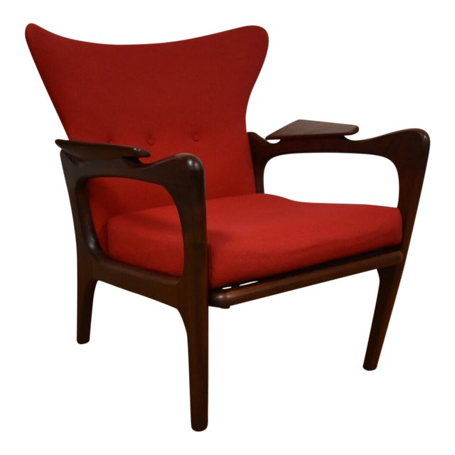 Adrian Pearsall Wing Back Lounge Chair For Sale