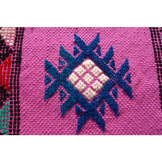MoroccanTribal Motif Small Pink Rug - 1′6″ × 3′ - Image 7 of 8