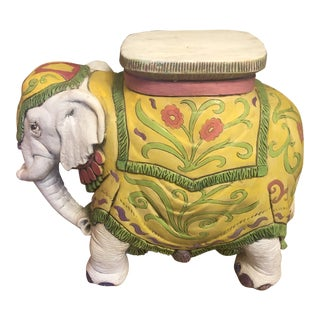 1960s Elephant Garden Stool For Sale