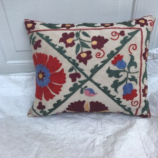 Antique Embroidered Suzani Pillow Preview