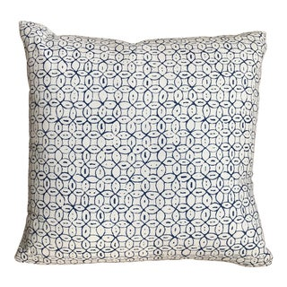 Custom Navy Circles on White Throw Pillow