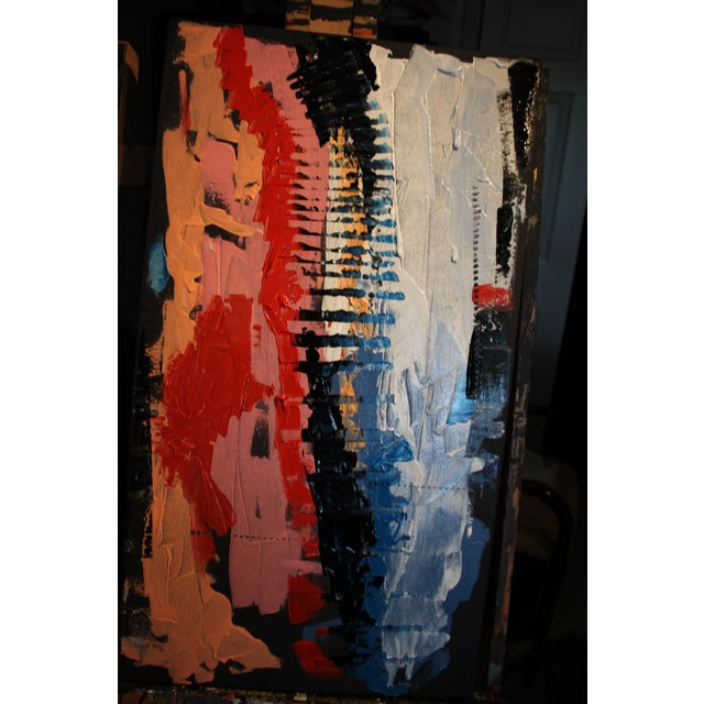 "Abstract Acrylic on deep edge canvas 20"" w x 36"" l Painting by CL Brode Abstract painter / writer / designer Exhibits and..."