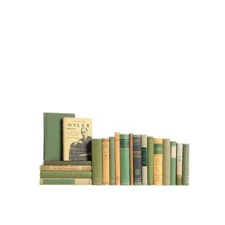 Midcentury Mini Mix: Green & Gold - Set ofTwenty Decorative Books