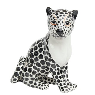 Vintage Ceramic Snow Leopard For Sale