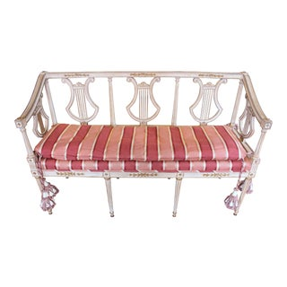 1900s Triple Lyre Back Settee For Sale