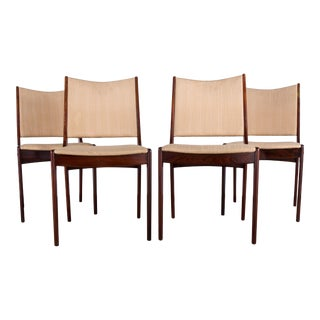 Mid-Century Johannes Andersen Rosewood Dining Chairs- Set of 4 For Sale