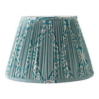 "Swell in Blue Mineral 16"" Lamp Shade, Robin's Egg Blue For Sale"