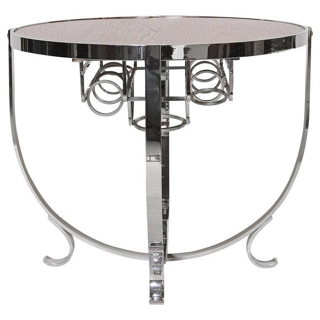 Machine Age Art Deco Streamline Cruise Liner or Pullman Car Cocktail Table For Sale - Image 11 of 11