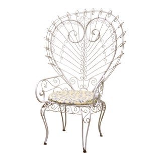 Russell Woodard Style Queen of Hearts Outdoor Chair For Sale