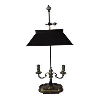 Antique 19th Century Brass Desk Lamp For Sale