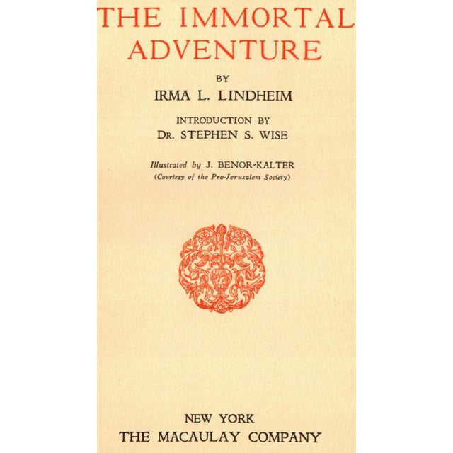 """Art Deco """"The Immortal Adventure"""" Signed Book Circa 1928 For Sale - Image 3 of 5"""