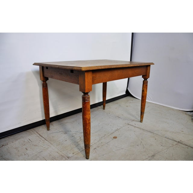 Vintage French Oak Farmhouse Dining Table For Sale - Image 4 of 12