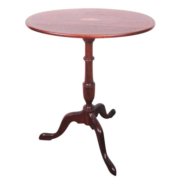 20th Century Inlaid Tilt Top Table For Sale