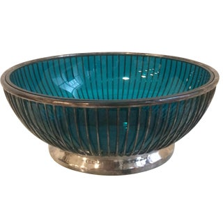 Gorham Wire Bowl With Blue Dish