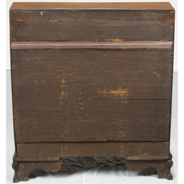 Brass 19th Century Victorian Period Light Oak Slant Front Bureau Secretary Desk For Sale - Image 7 of 13