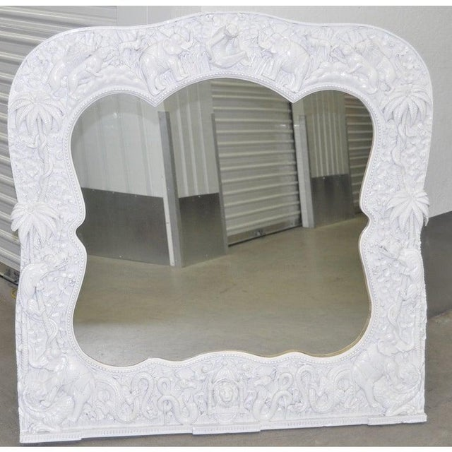 Anthony Redmile, London - Zoological Framed Mirror Stunning vintage frame in white surrounded with a collection of...