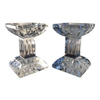 Waterford Lismore Pillar Candlestick Holders - a Pair For Sale