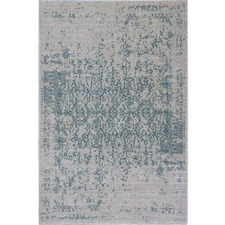 "Distressed Turkish Teal Rug - 5'3"" x 7'7"""