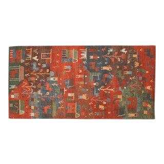 New Tibetan Folk Art Rug Runner For Sale