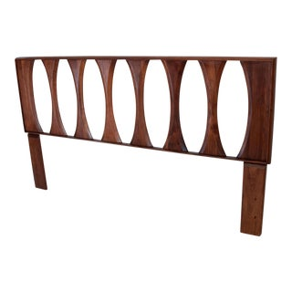 Mid Century Modern Walnut Headboard by Prelude For Sale
