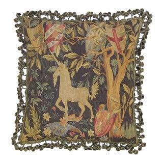 Aubusson Unicorn Pillow For Sale