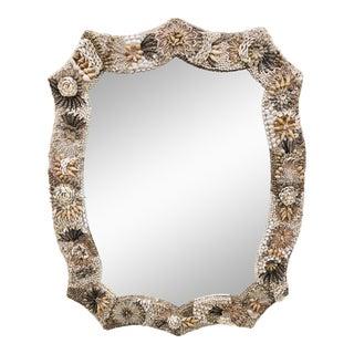 Vintage Seashell Mirror For Sale